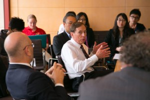 Gen. Petraeus at Lewis Hall in March