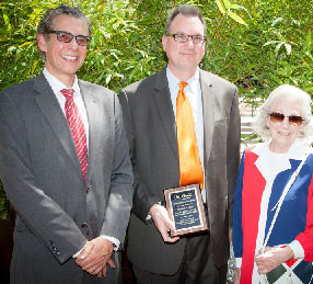 Dean Robert K. Rasmussen, Tom Lyon and Sally Rutter