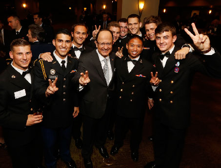 Nikias with cadets