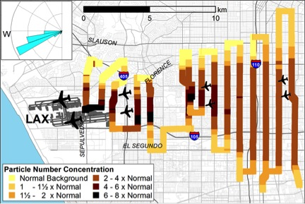 LAX pollution graphic