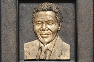 Nelson Mandela was inducted into the Los Angeles Memorial Coliseum Court of Honor on May 14. (USC Photo/Gus Ruelas)