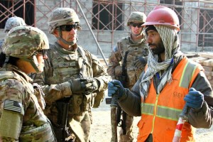 Col. Michael Price with Afghan