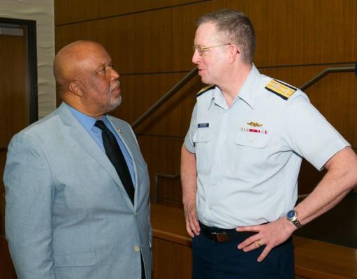 Bennie Thompson and Coast Guard admiral