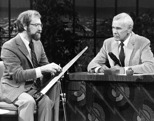 David Weiss and Johnny Carson