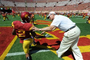 USC Athletics Director Pat Haden focuses on student-athlete welfare on and off the field. (Photo/ Jon SooHoo)