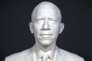 The Smithsonian built a 3-D portrait of President Barack Obama with the help of USC's Institute for Creative Technologies. (Photo/Courtesy of The Smithsonian)