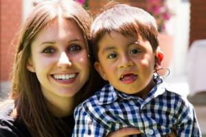 Natalie Tecimer with a child