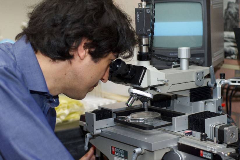 Researcher Valter Longo at work