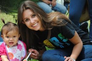 Natalie Tecimer at a picnic