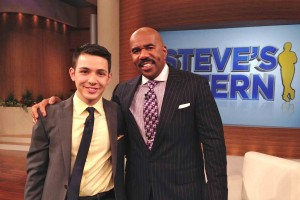 USC student with Steve Harvey in Chicago