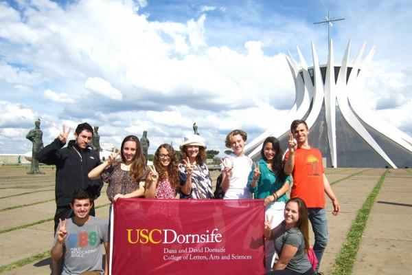 USC Dornsife students in Brazil