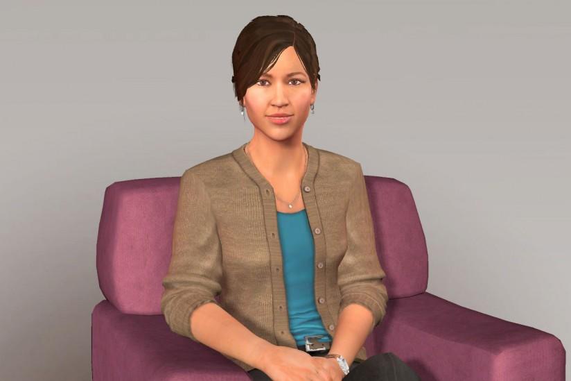 Simsensei, a virtual human