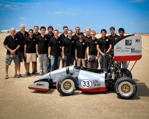 USC Racing team with Nikki