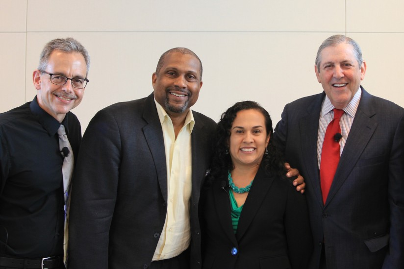 Manuel Pastor and Tavis Smiley at poverty panel