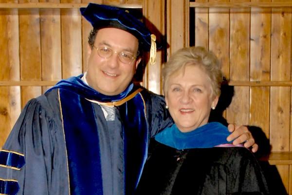 USC School of Social Work's Ron Astor and Dean Marilyn Flynn