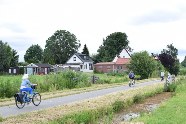 bicyclists in Holland