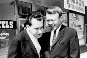 A.J. Langguth and Richard Nixon in 1962