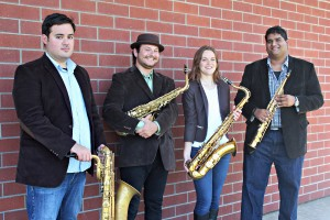 saxophone quartet, USC Thornton students