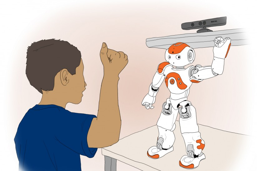 imitative behavior with Nao robot