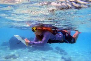 Alumna, pearl biologist, Tina Weier, Cook Islands