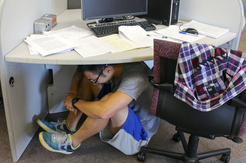 ShakeOut earthquake drill at USC