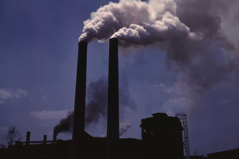smokestacks with polluted air
