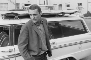 Dennis Hopper with station wagon