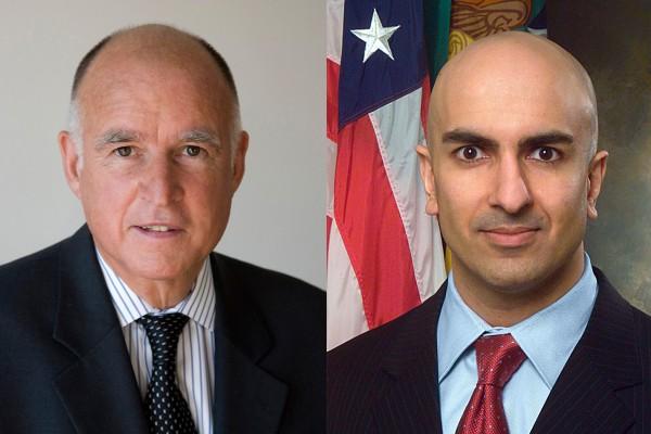 Jerry Brown, Neel Kashkari,