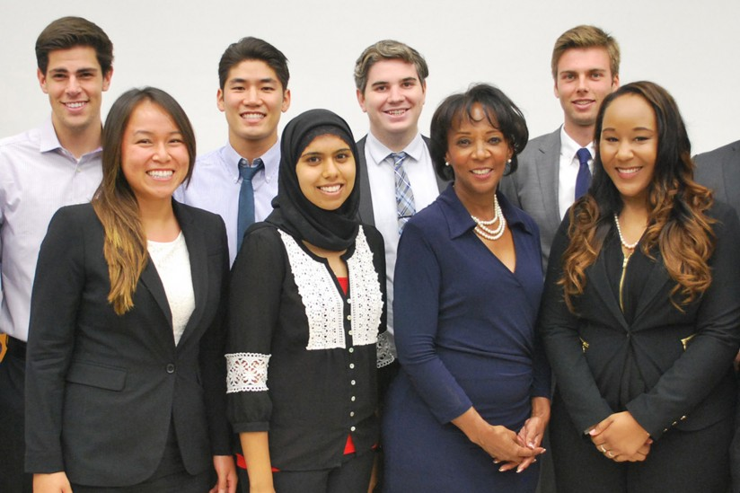Jackie Lacey J.D, USC Gould students,