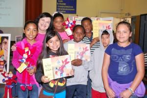 Barbara Saltzman with Weemes students