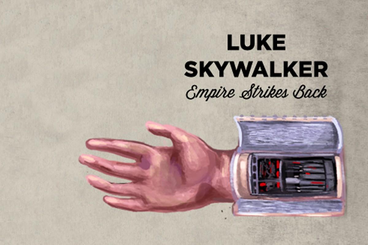 skywalker hand Luke prosthetic