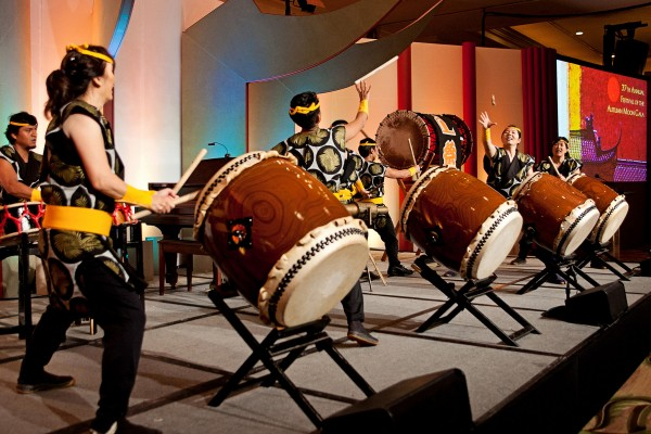 Drummers perform at gala