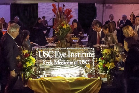 USC Eye ice sculpture