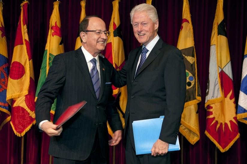 C. L. Max Nikias and Bill Clinton