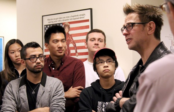 James Gunn with SCA students