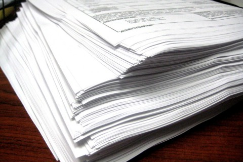 stack of papers