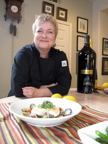 Cathy Thomas in her kitchen