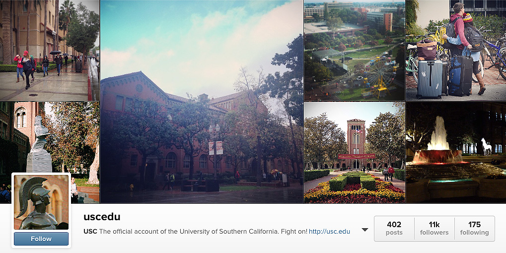 USC's Instagram page