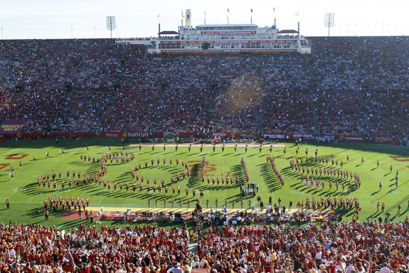 "Marching Band spells out ""Louis"""