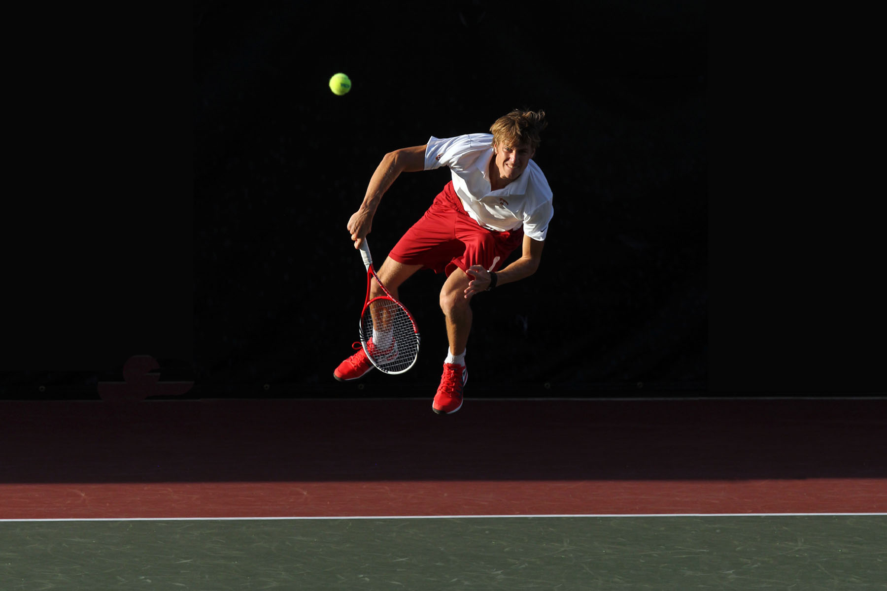 Men's tennis player Max de Vroome. (Photo/Bill Kallenberg)