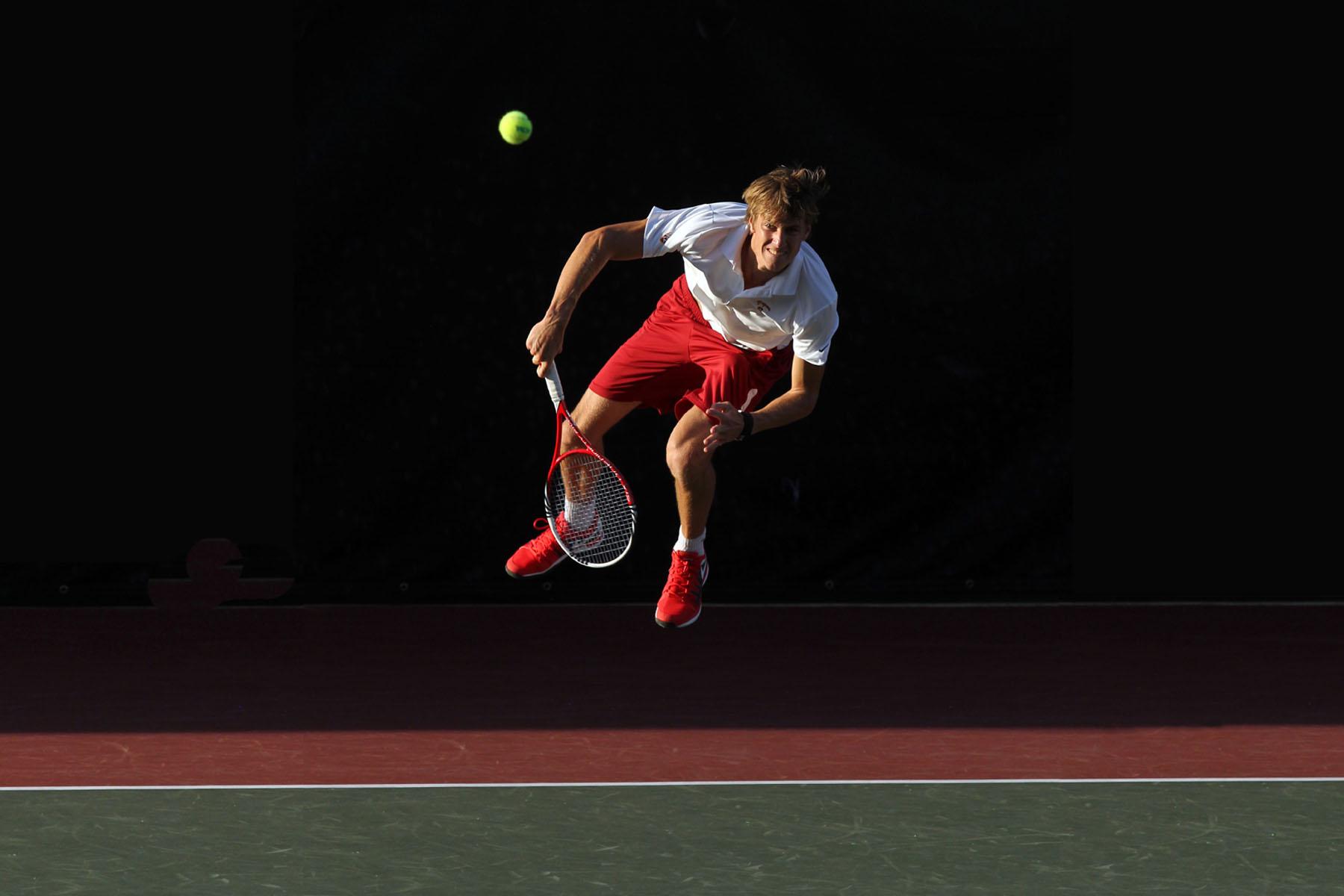 Men's tennis player Max de Vroome. (Photo/Bill Kallenberg)