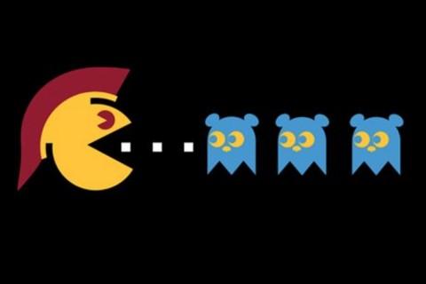 Pac-Man-inspired Trojan image