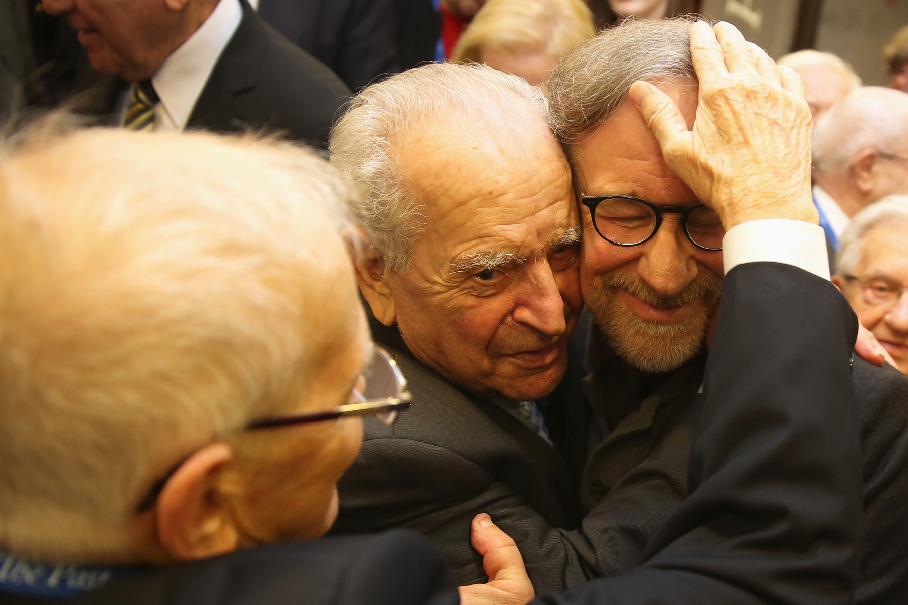 Steven Spielberg and Holocaust survivors