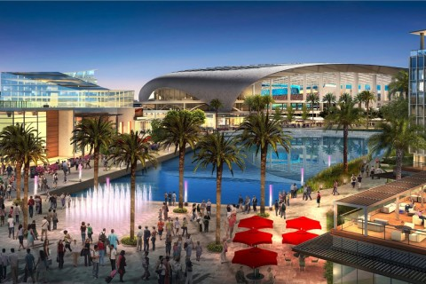 Architect's rendering of the proposed City of Champions revitalization project in Inglewood