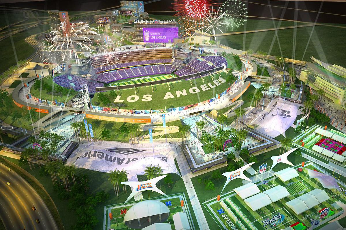 Hollywood Park Stadium Renderings