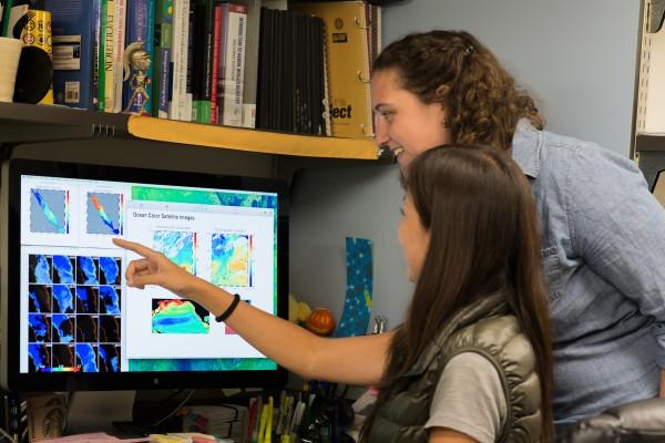 students study bacteria