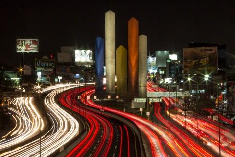 Mexico at night