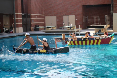 Iovine and Young Academy held a cardboard ship race