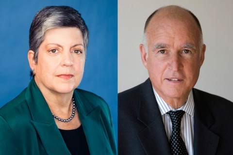 Janet Napolitano and Jerry Brown