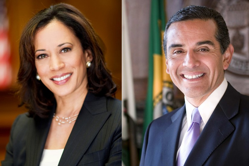Kamala Harris and Antonio Villaraigosa